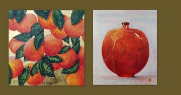 mary wallace art orange