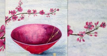 mary wallace art pink