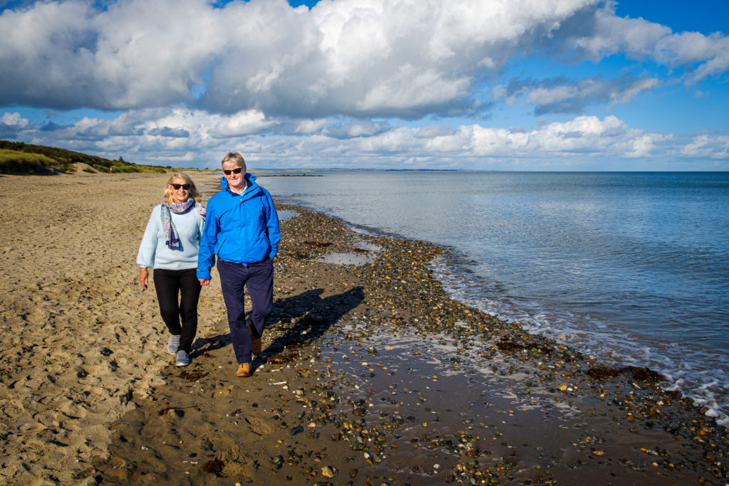 Enjoy a beach walk in Wexford